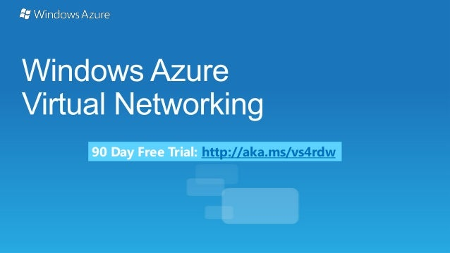 90 Day Free Trial: http://aka.ms/vs4rdw