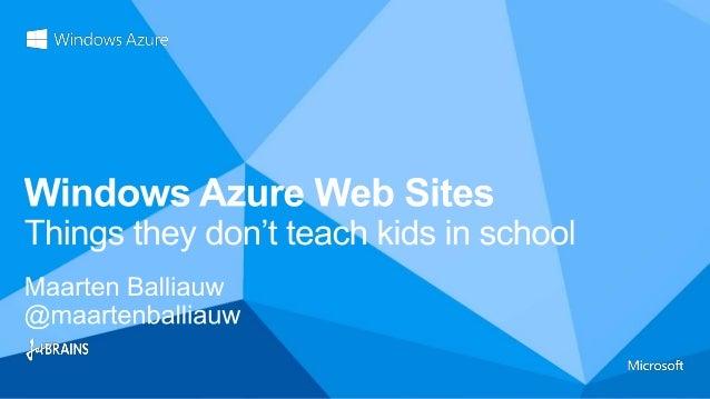 Over 60 community-led Windows Azure training events worldwide!http://globalwindowsazure.azurewebsites.net