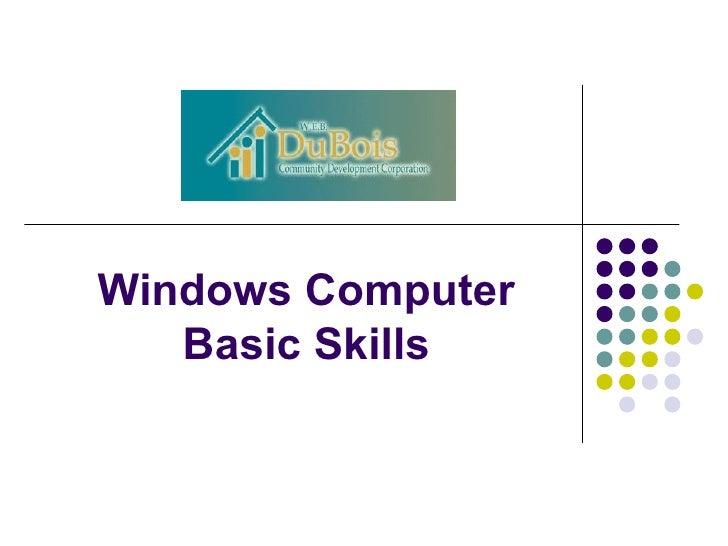 Windows Computer Basic Skills