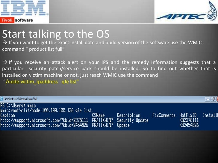 Wmic product call install | using a command line to install on