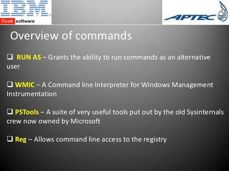 Windows Command Line Tools