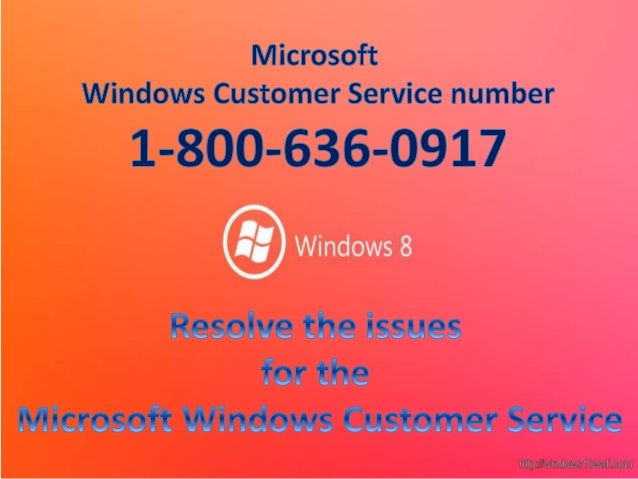 Microsoft Windows Customer Service for toll free number 1-800-636-0917