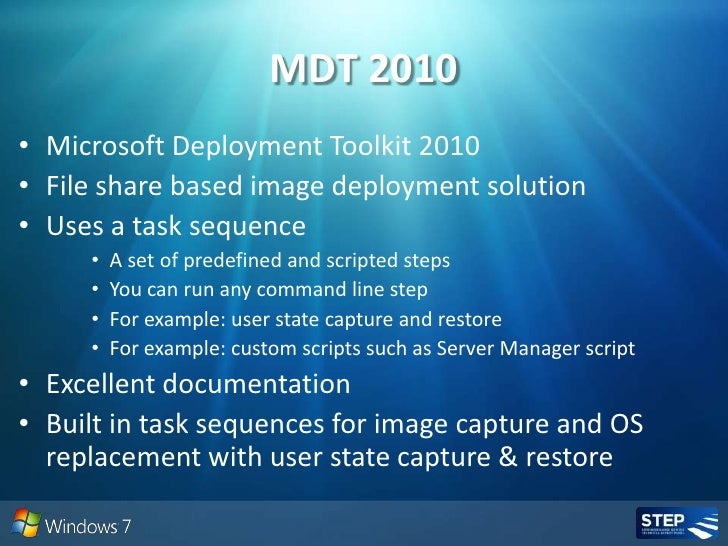 Windows Deployment Tools And Methodologies