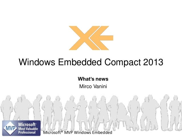 Windows Embedded Compact 2013 What's news Mirco Vanini  Microsoft® MVP Windows Embedded