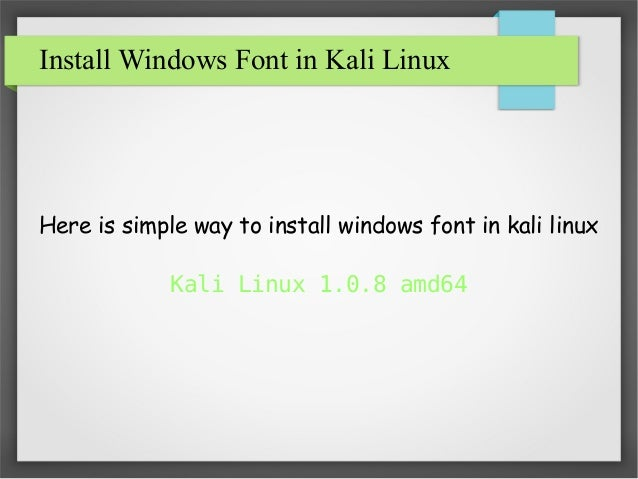 how to add font windows 8