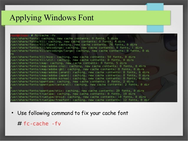 How To Install Windows Font in Kali Linux