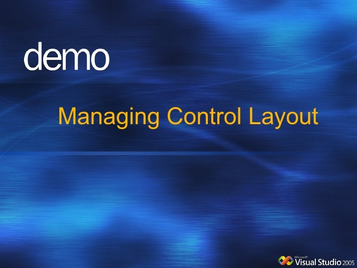 Managing Control Layout