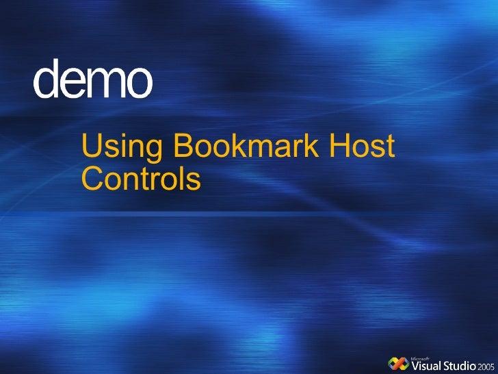 Using Bookmark Host Controls
