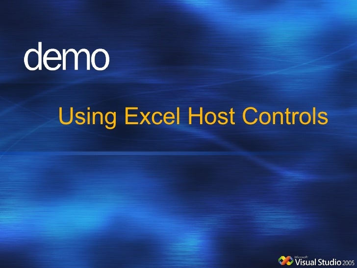 Using Excel Host Controls