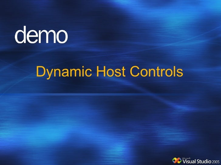 Dynamic Host Controls