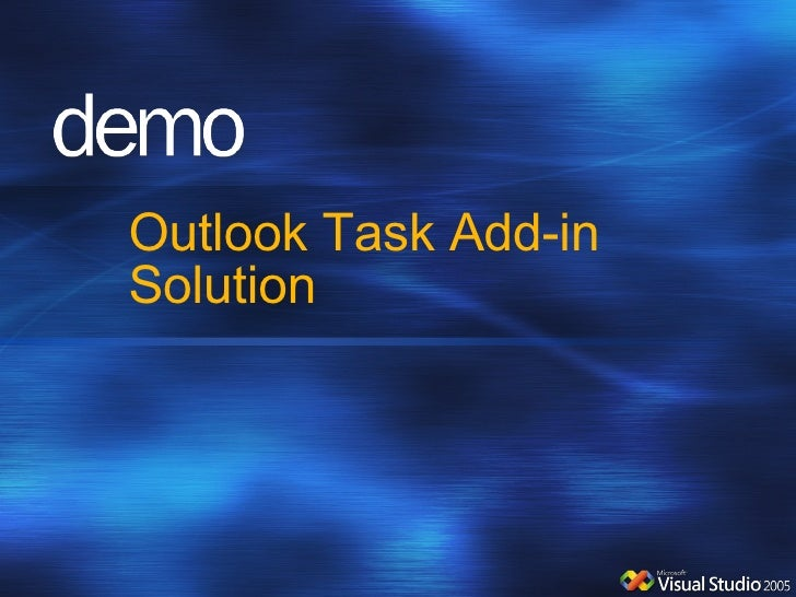 Outlook Task Add-in Solution