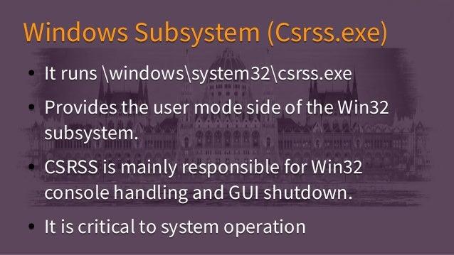 Windows internals Essentials
