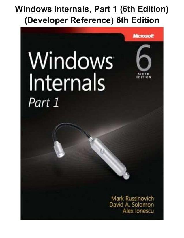 Windows internals 6 part 1