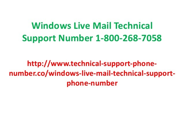 windows live mail support number 1 866 281 2116 customer service