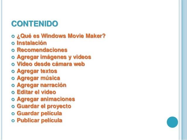 Windows Movie Maker Slide 2