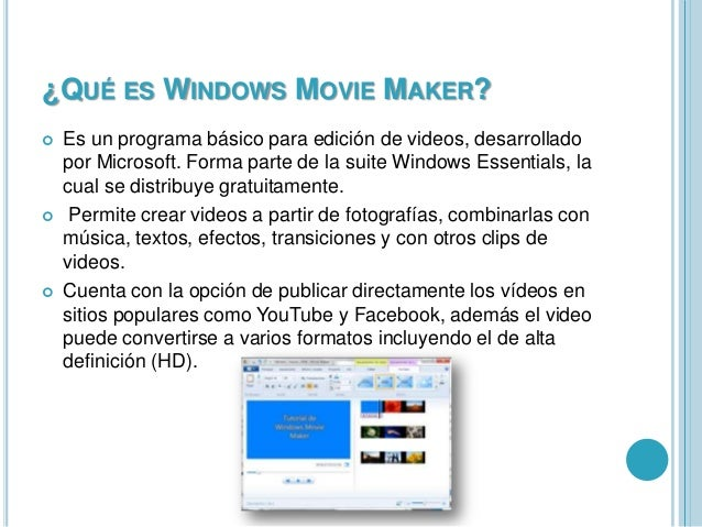 Windows Movie Maker Slide 3