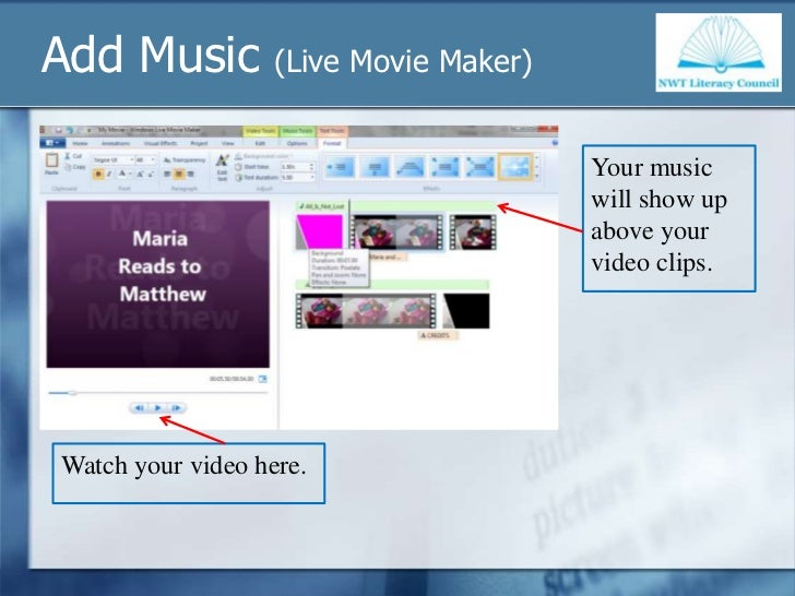 how to change background in windows live movie maker