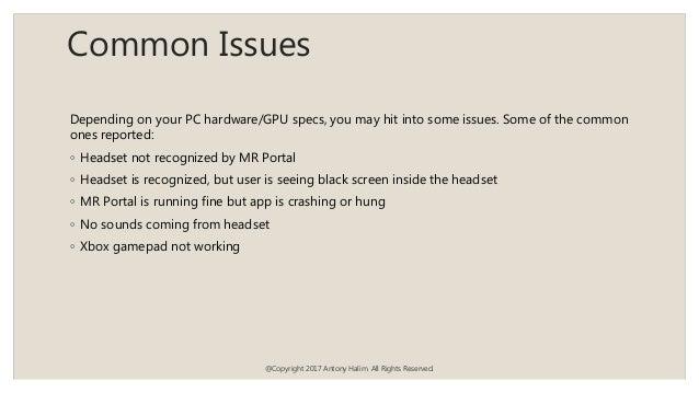 Windows Mixed Reality Dev
