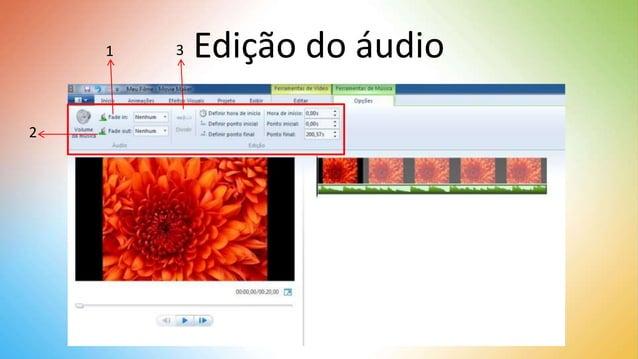 Edição do áudio1 2 3