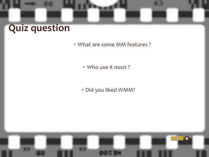 Windows movie maker presentation