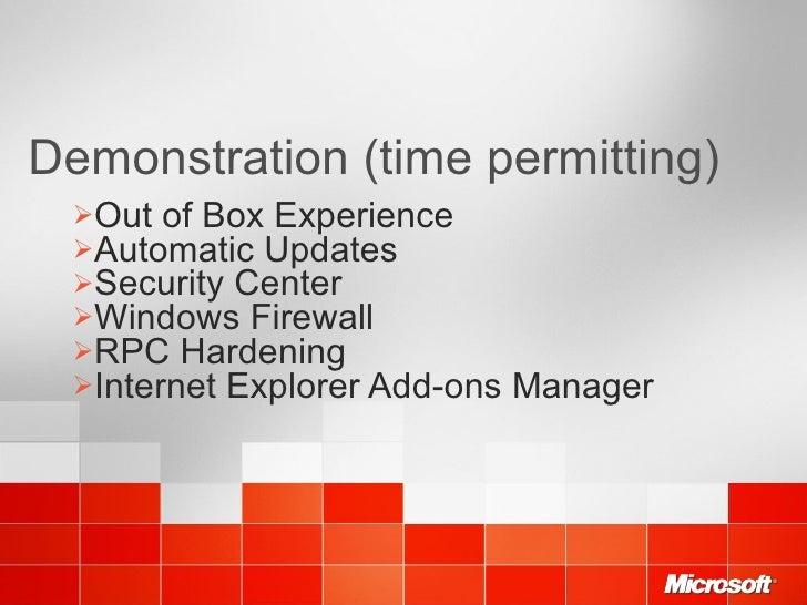 Windows network security