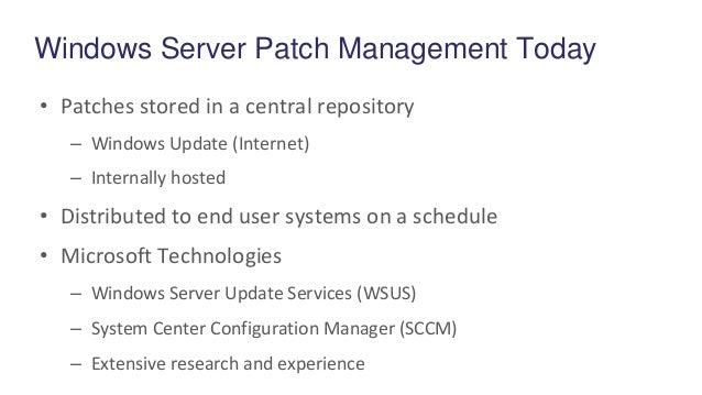 microsoft windows update schedule
