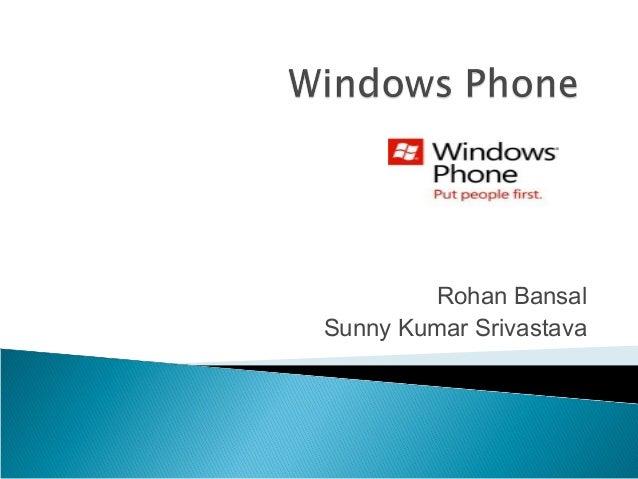 Rohan Bansal Sunny Kumar Srivastava