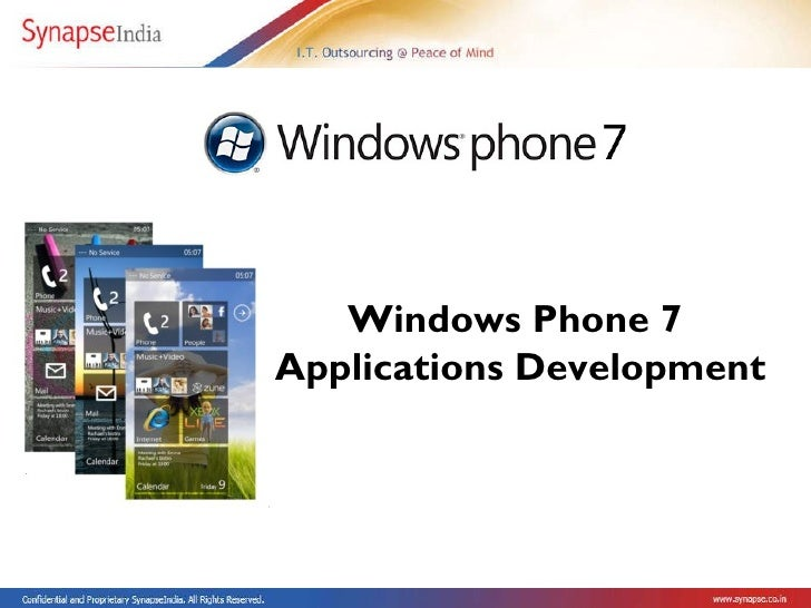 Windows Phone 7  Applications Development