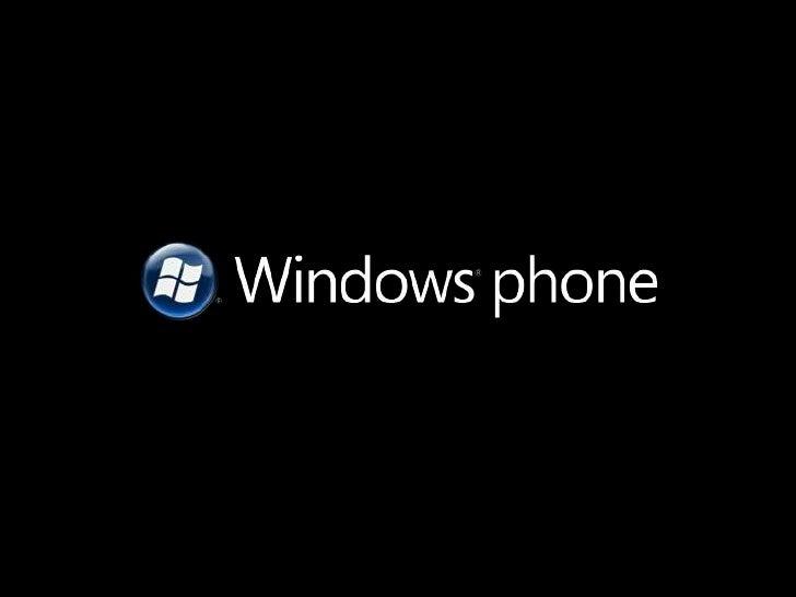 Metro and Windows Phone 7 Slide 2
