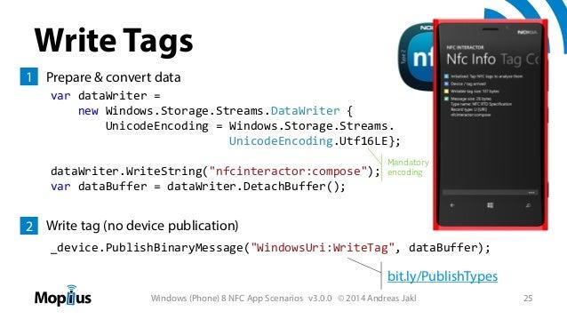 Windows (Phone) 8 NFC App Scenarios