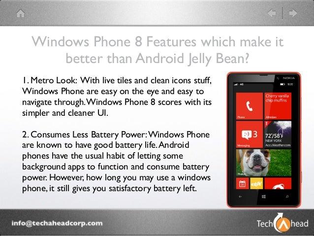 Windows Phone 8 vs Android Jelly Bean