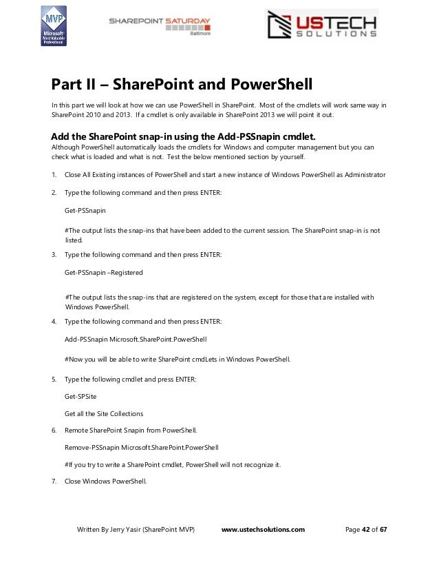 Windows Power Shell Sharepoint Better Together