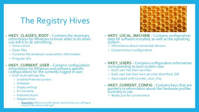 hive key value subkey 4 the registry - Registry