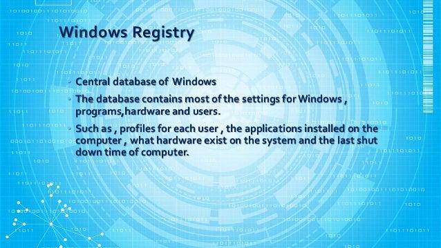 Windows registry forensics Slide 3