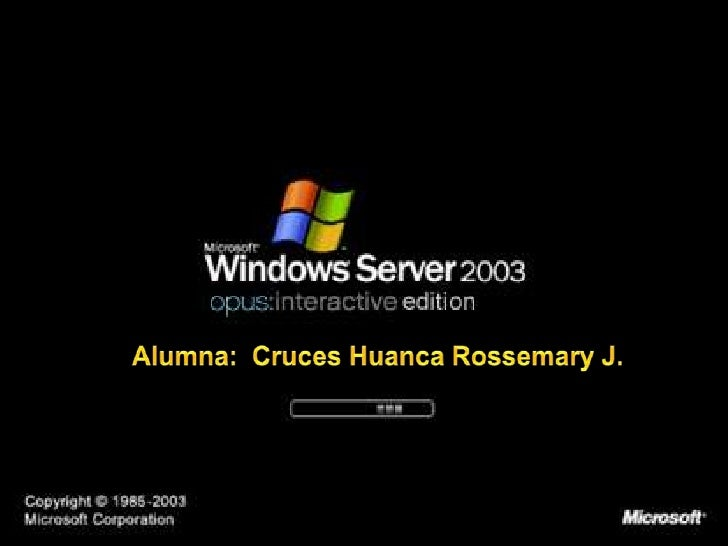 Windows Server 2003  Windows Server  2003 Es un sistema  operativo de la familia  Windows de la marca  Microsoft para  se...