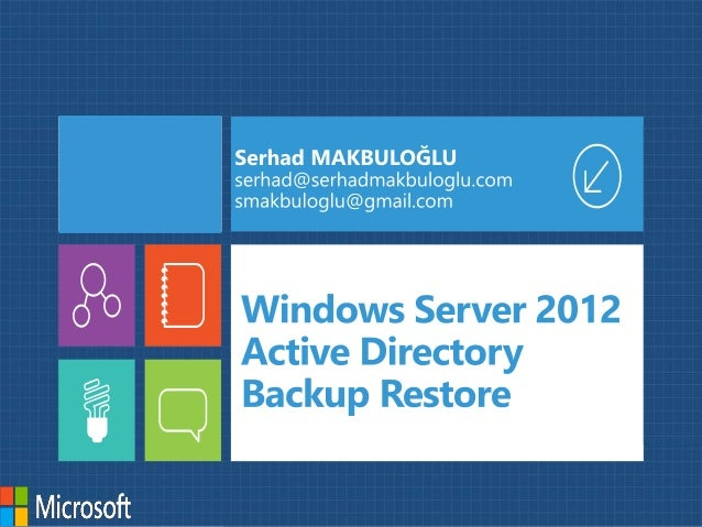 Active Directory Araçları Description NTDS.dit EDB*.log EDB.chk File • The AD DS database file • All AD DS partitions and ...