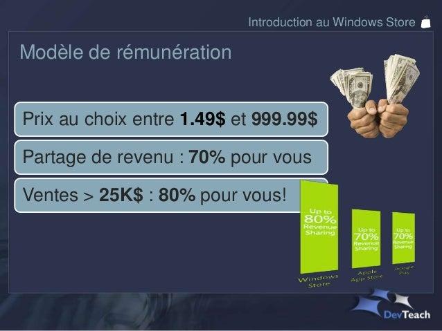 Introduction au Windows StoreQuelques faits  Les versions d'essai, ça marche!Windows Phone Developer blog, March 2011