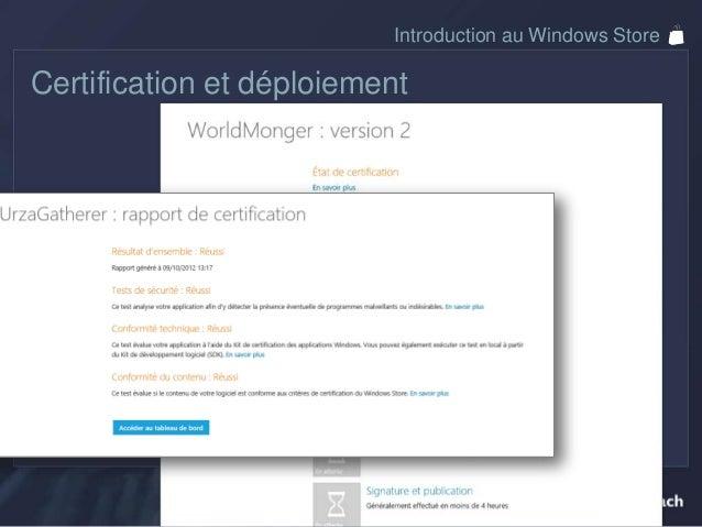 Introduction au Windows StoreAnalytiques