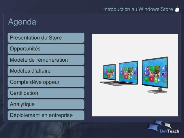 Introduction au Windows Store Slide 3