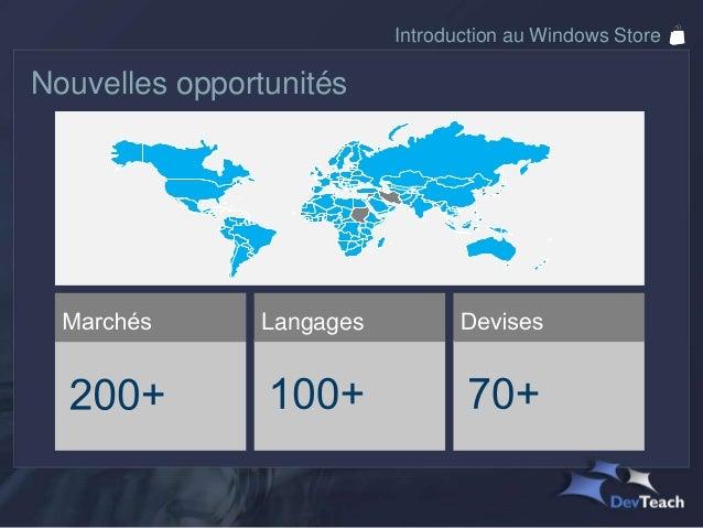 Introduction au Windows Store Chiffres selon les plateformes              Monde                                           ...