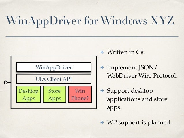 Winappdriver Windows Store Apps Test Automation