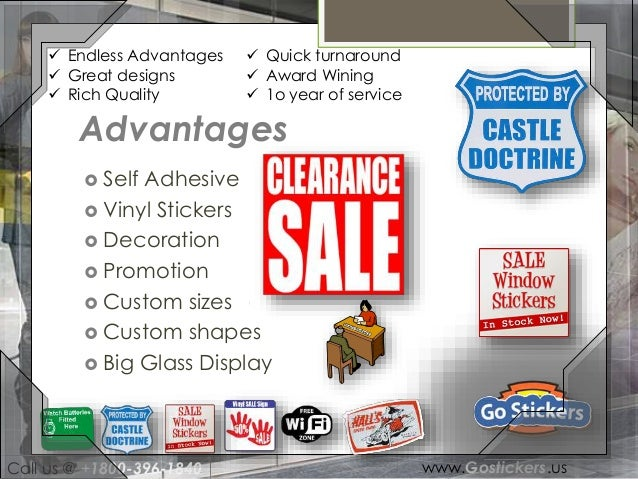Window Sticker - Custom vinyl stickers for cars   the advantages