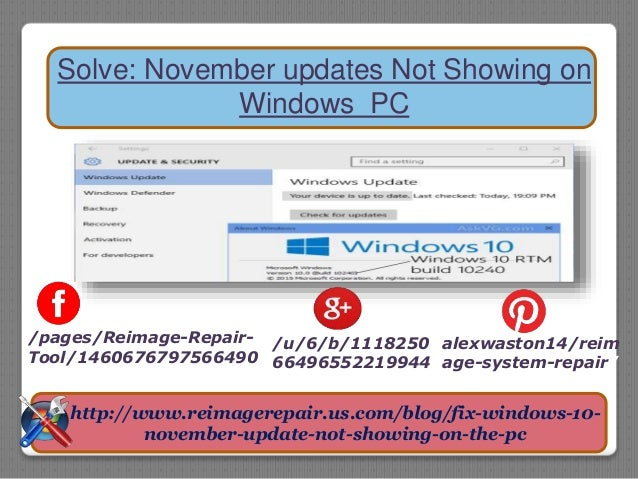 Solve: November updates Not Showing on Windows PC