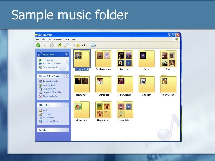 Windows xp sample music