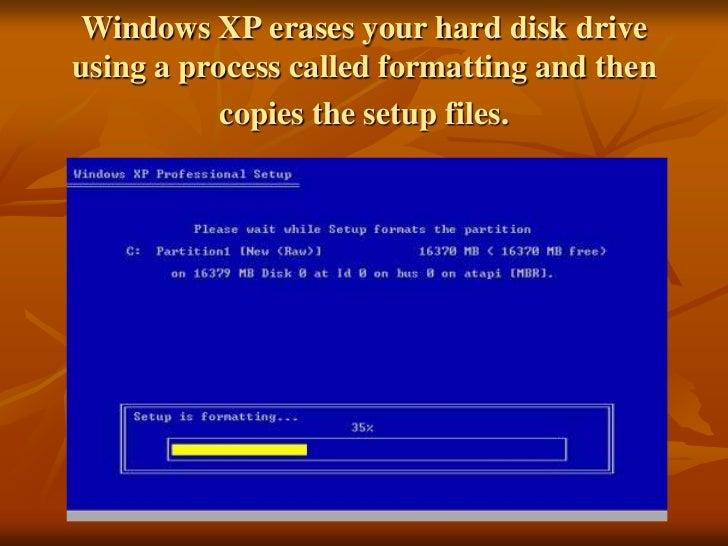 windows xp install disk