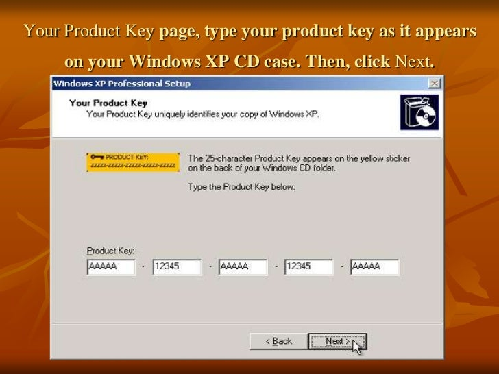 Windows xp install for Window xp product key