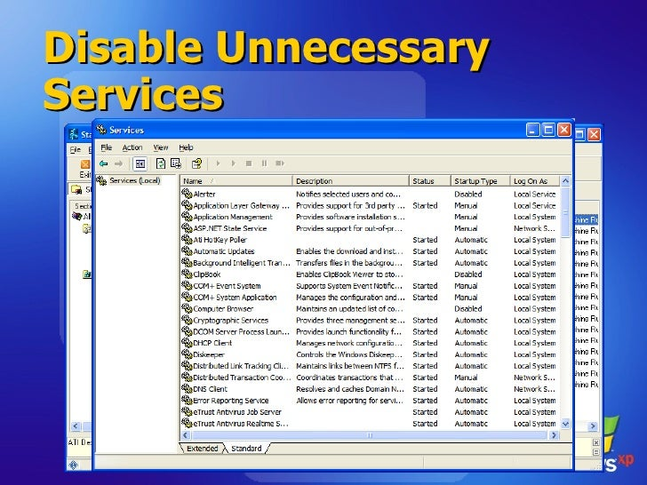 Disable Unnecessary Services