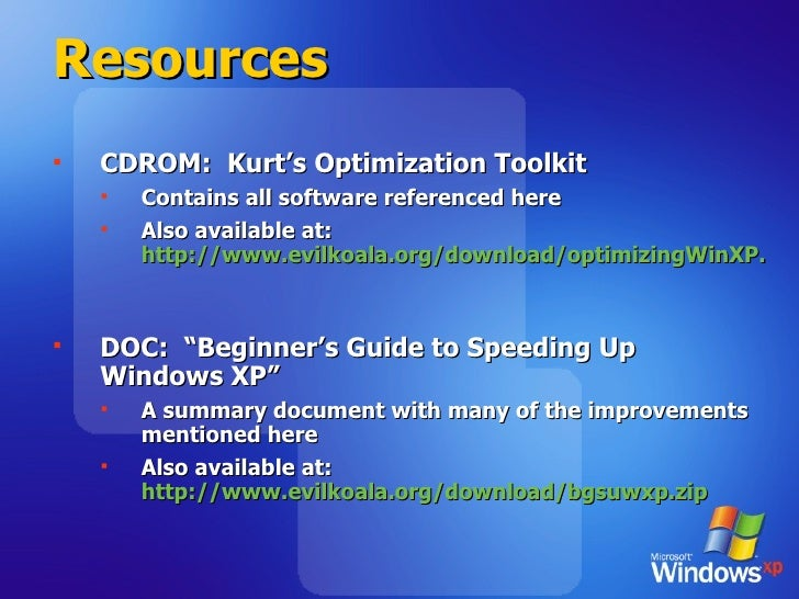 Resources <ul><li>CDROM:  Kurt's Optimization Toolkit </li></ul><ul><ul><li>Contains all software referenced here </li></u...