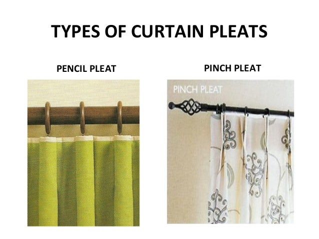 types of curtain pleats pencil pleat pinch pleat - Types Of Curtains For Windows