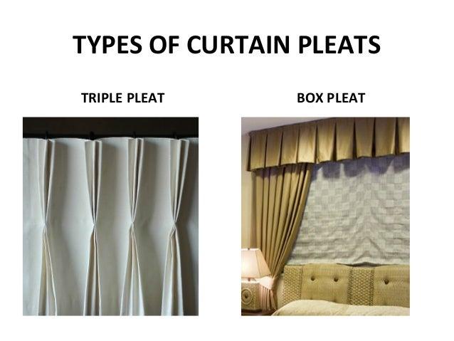 TYPES OF CURTAIN PLEATS TRIPLE PLEAT BOX PLEAT ...
